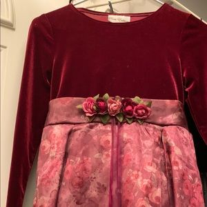 Rare Editions Burgundy dress